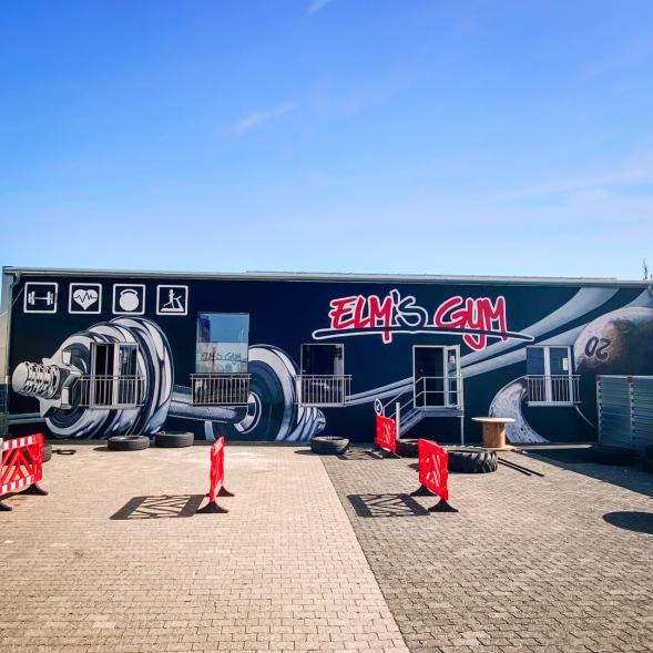 Ansicht Rückwand Graffiti